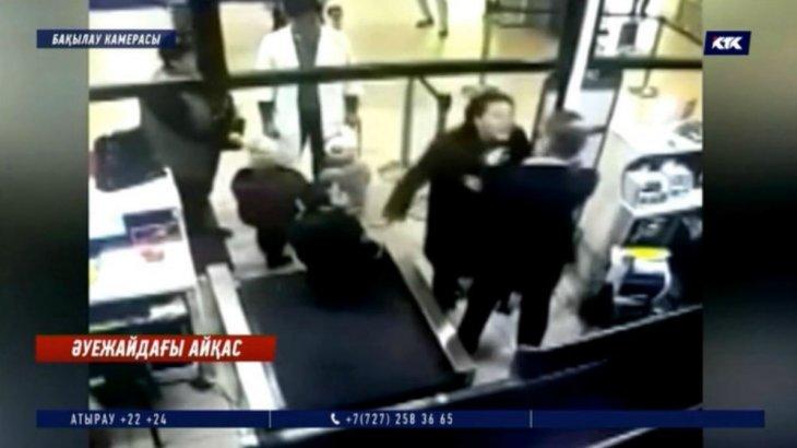 «Балама кісен салды»: «Эйр Астана» қызметкерін ұрған келіншек оқиға барысын айтып берді