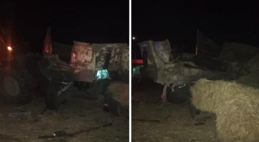 Қостанайда автобус пен трактор соқтығысты: зардап шеккендер бар