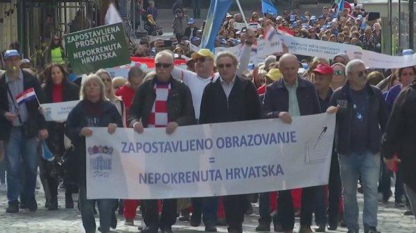 Хорватиялық мұғалімдер ереуілге шықты