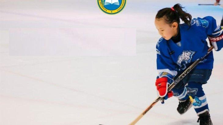 2 сынып оқушысы «Барыс» хоккей клубында ойнайтын жалғыз қыз