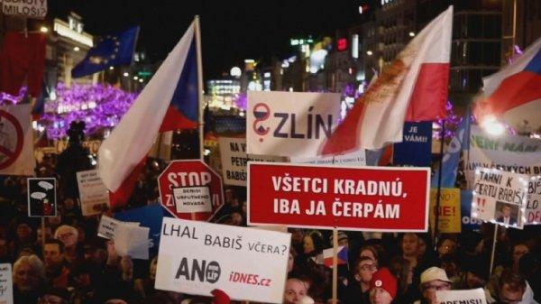 Прагада үкімет басшысына қарсы наразылық шеруі өтті