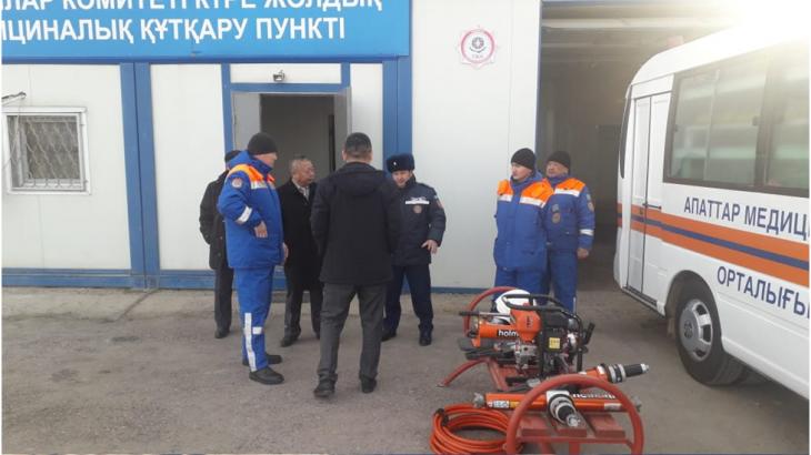 Депутаттар «Луговое» күре жолдық медициналық-құтқару пунктін тексерді