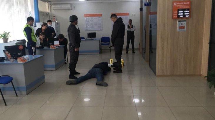 Шымкент қаласындағы Jýsan Bank бөлімшесіне қарулы шабуыл жасалды