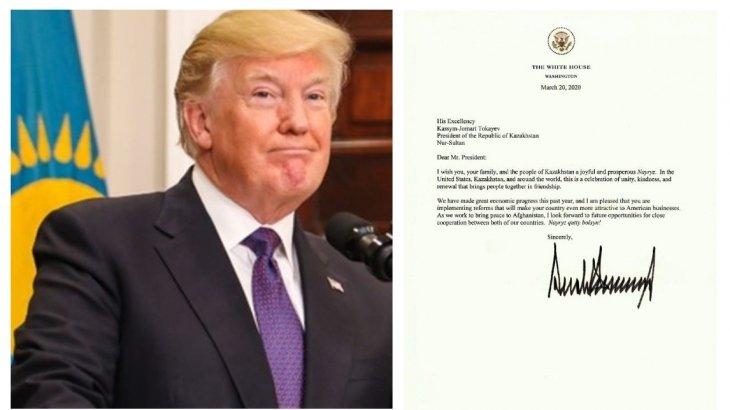 Дональд Трамп Тоқаевты және қазақстандықтарды Наурыз мерекесімен құттықтады