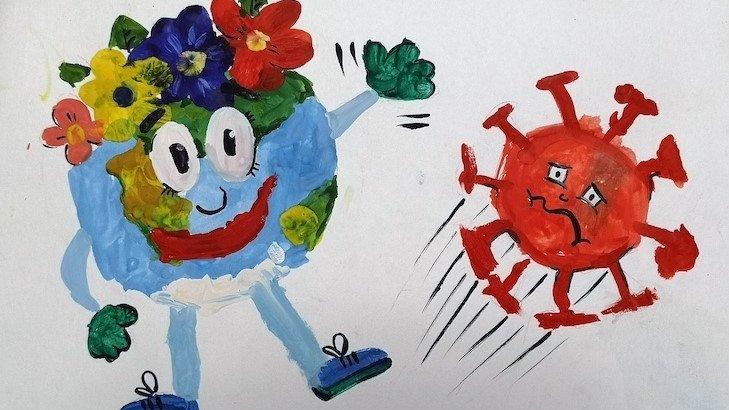 «Қиын заман»: бастауыш сынып оқушылары коронавирус туралы тақпақ шығарды