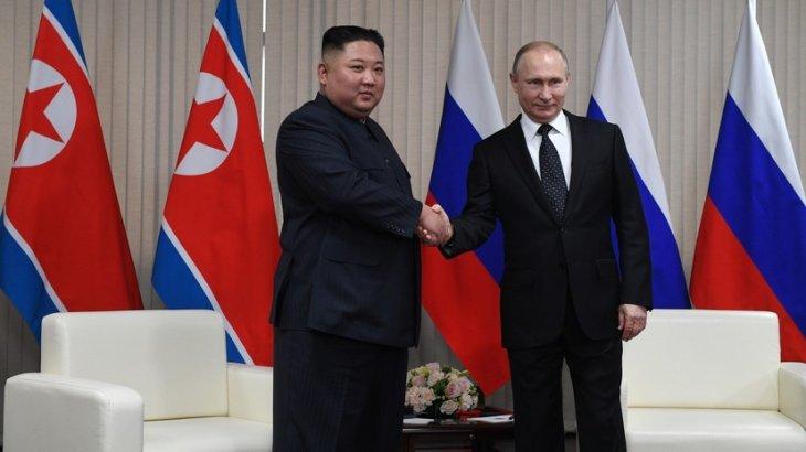Путин Ким Чен Ынды «Ұлы Отан соғысы Жеңісінің 75 жылдығы» медалімен марапаттады