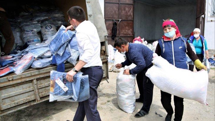 Жамбыл облысында контрабандашылардан тәркіленген заттар тұрғындарға таратылады