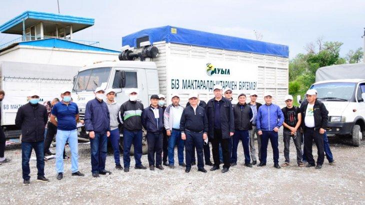 «Ауыл» партиясының «Біз Мақтаралдықтармен біргеміз» атты қайырымдылық автокеруені ауылдарға аттанды