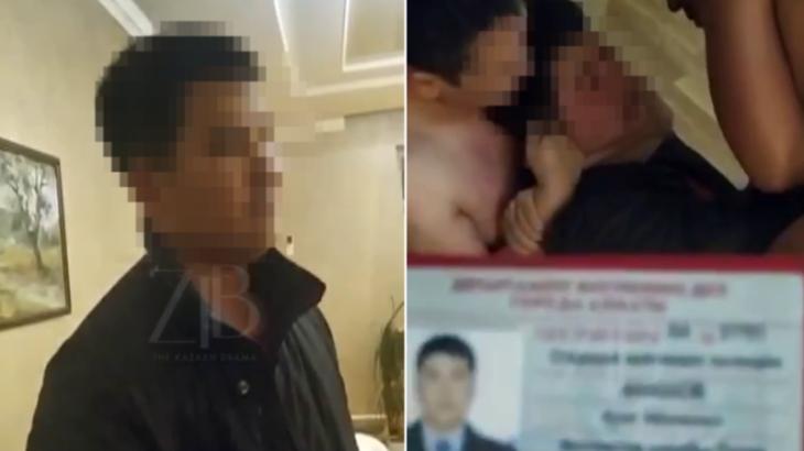 Боди-массаж жасатуға барған полицей ВИДЕОға түсіп қалды