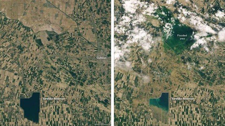 NASA Сардоба су қоймасының жарылғанға дейінгі және кейінгі суретін жариялады