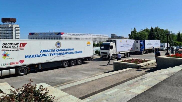 Алматы Мақтааралға гуманитарлық көмек жіберді