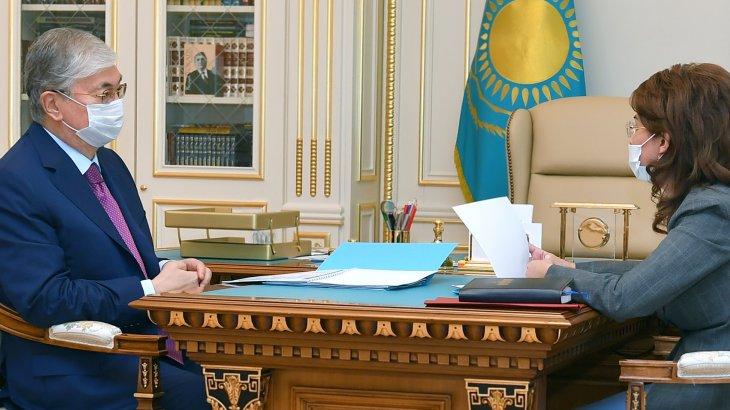 Президент алғаш рет жаңа министр Аида Балаеваны қабылдады