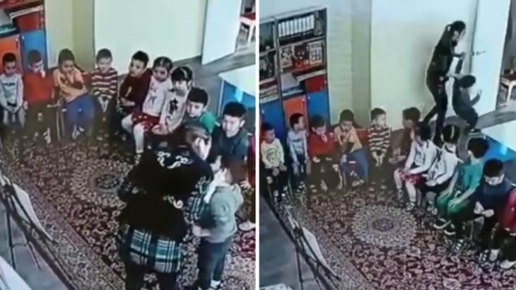 Алматыда балабақша тәрбиешісінің балаларды азаптағаны ВИДЕОға түсіп қалды