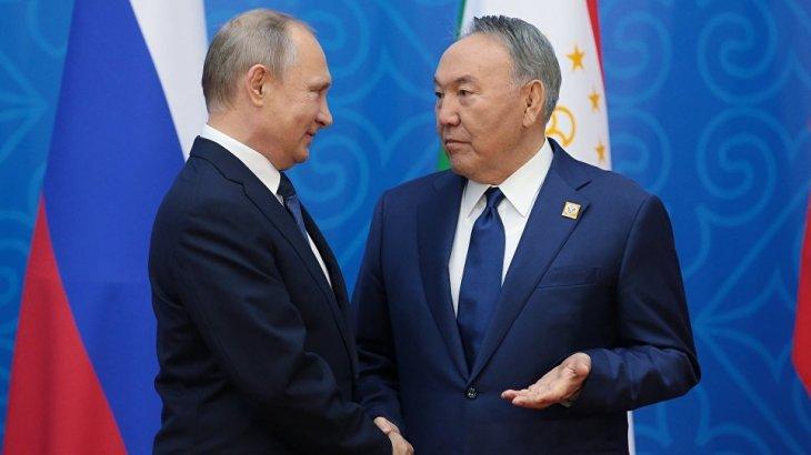 «Қолдау көрсеткім келеді»: Путин Назарбаевқа жеделхат жолдады