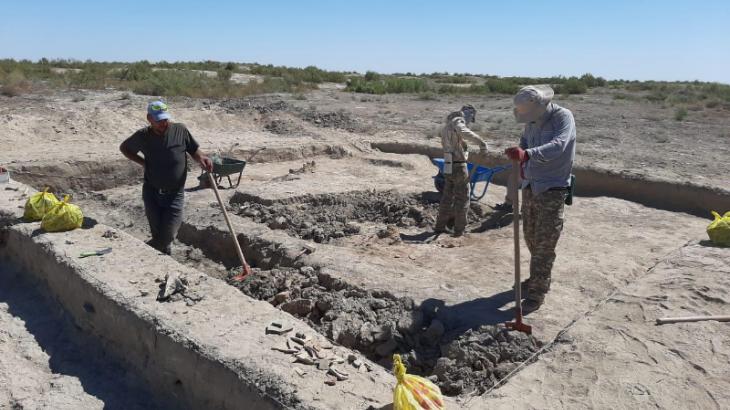 Асанаста археологиялық қазба жұмыстары жүргізілуде
