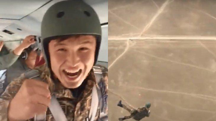 Ақтауда парашюті ашылмай қалған сарбаз көз жұмды