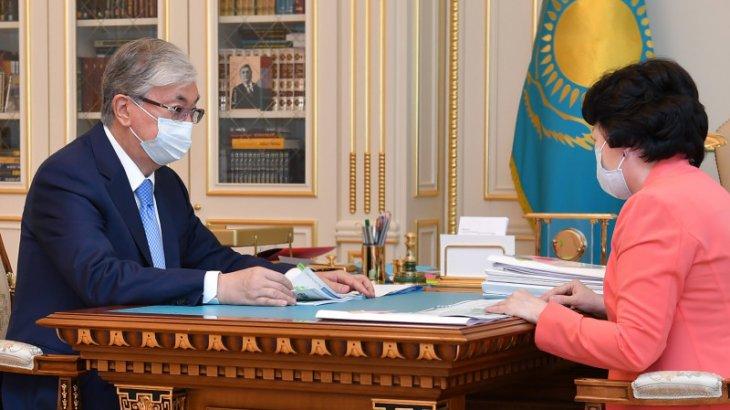 Мемлекет басшысы Райымқұлованы қабылдады