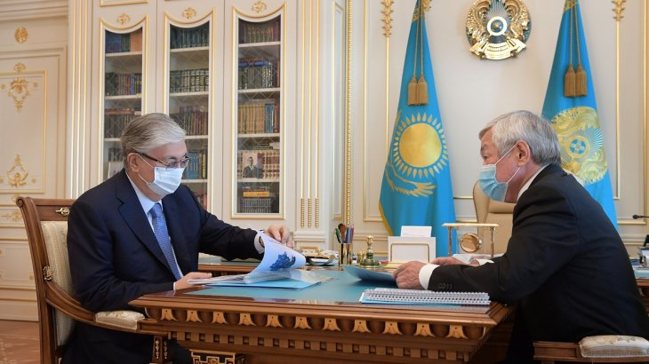 Мемлекет басшысы Жамбыл облысының әкімі Бердібек Сапарбаевты қабылдады