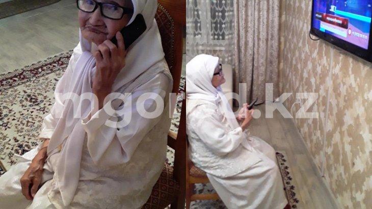 Ақтөбеде 105 жастағы әжей WhatsApp арқылы «онлайн» бата беріп жүр