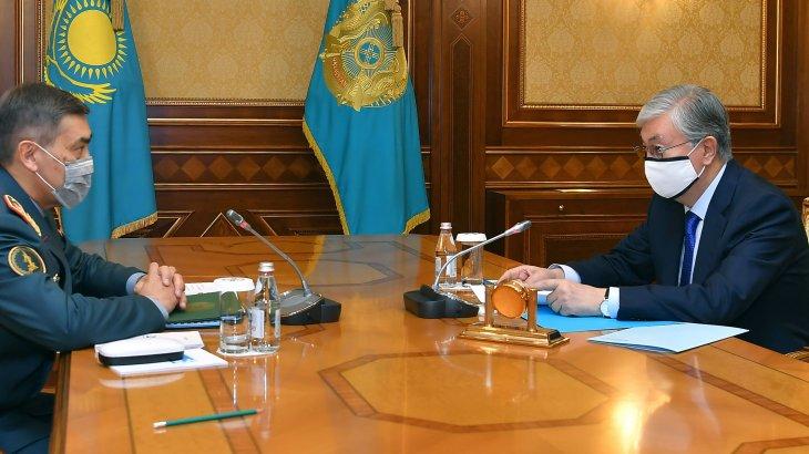 Тоқаев Қорғаныс министрін қабылдады