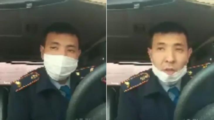 «Ешкім қысым көрсеткен жоқ»: ШҚО полицейі атышулы видеоға қатысты түсінік берді