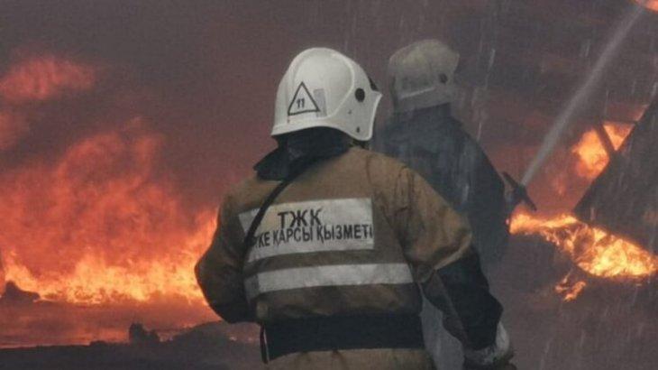 Талғар қаласында өрт болып,үш адам қаза тапты