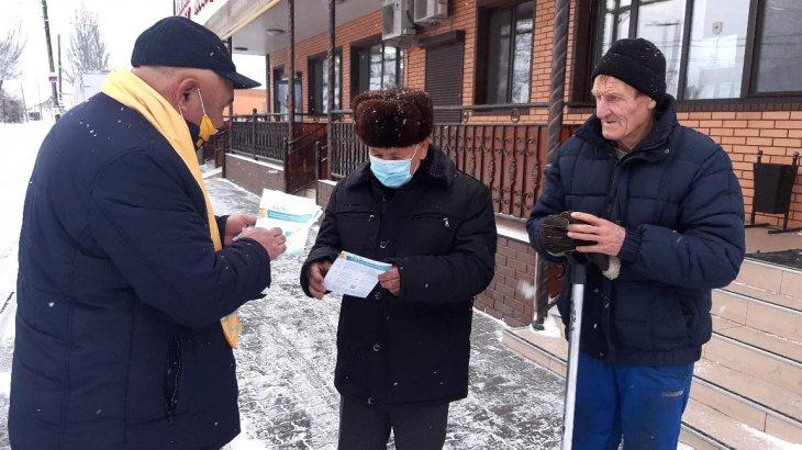 Мәслихат депутаттығына үміткер Раимжан Ибдиминов Жаңашар ауылының тұрғындарымен кездесті