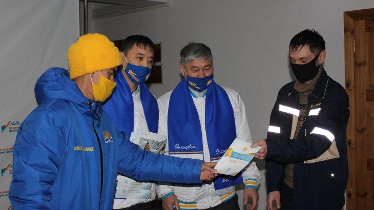 Қаратау қаласы: Үміткерлер «Шолақтау» тау-кен өңдеу кешені қызметкерлерімен кездесті