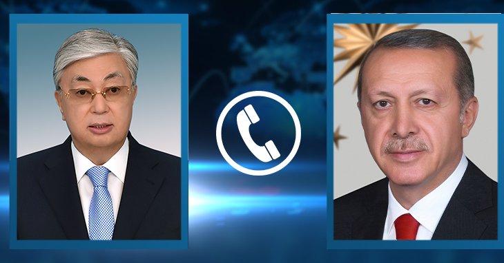 Тоқаев пен Ердоғанмен телефон арқылы сөйлесті