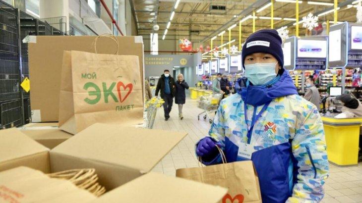 Елордалық супермаркеттердің бірінде 10 мың дана экодорба таратылады