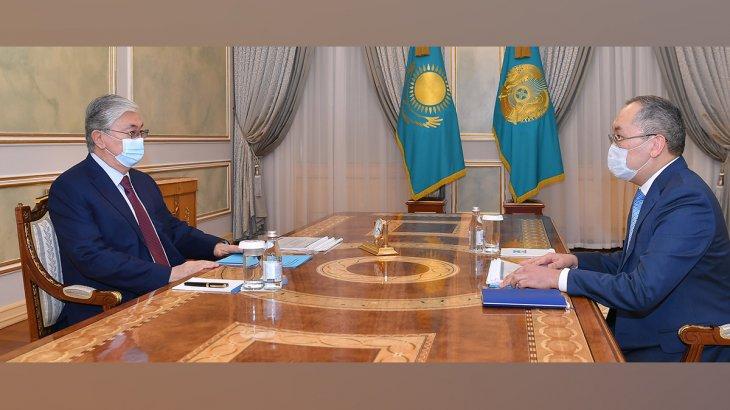 Тоқаев жаңадан құрылған агенттіктің басшысын қабылдады