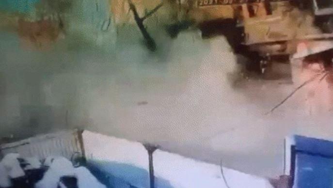 Желіде Петропавлдағы жарылыс сәті түсірілген ВИДЕО тарады