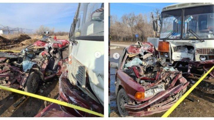 Алматы облысында жантүршігерлік жол апаты болды (ВИДЕО)
