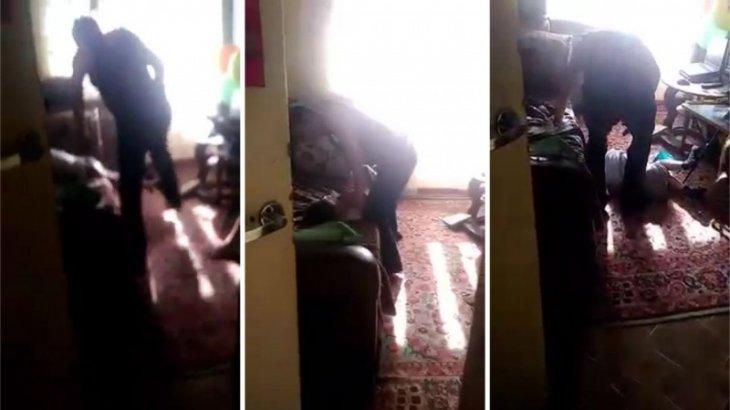 Қария мектеп жасындағы немересін соққыға жықты (ВИДЕО)