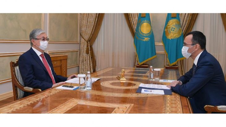 Қасым-Жомарт Тоқаев Сенат төрағасын қабылдады