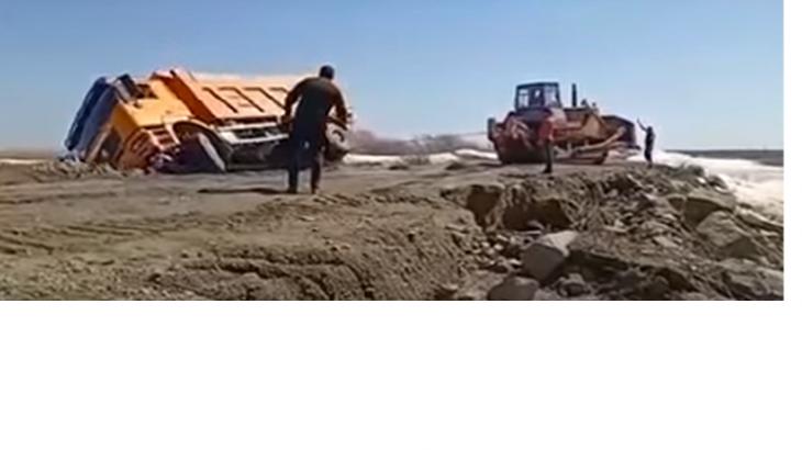 Ақмола облысында жүк көлігі жүргізушісімен бірге суға батып кетті