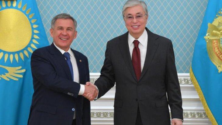 Тоқаев Татарстан Президенті Рустам Миннихановпен кездесті