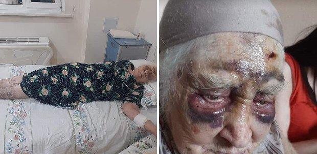 87 жастағы әжейді туған қызы мен немересі соққыға жыққан (ВИДЕО)