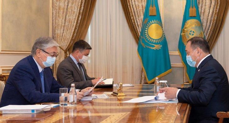 Қасым-Жомарт Тоқаев Премьер-министрдің орынбасары Ералы Тоғжановты қабылдады