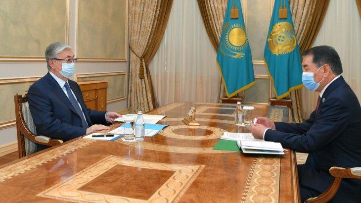 Тоқаев Конституциялық Кеңестің төрағасын қабылдады