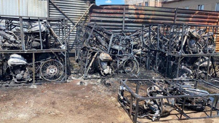 Астанада 36 мотоцикл өртеніп кетті