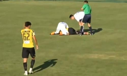«Қайрат» футболшысы ойын кезінде есінен танып қалды