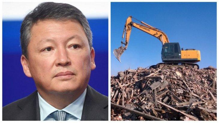 Алматы әкімдігі Құлыбаевтың компаниясы салып жатқан құрылысты тоқтатты