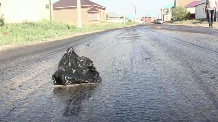 Қызылордада 94 миллионға төселген жол «аяққа жабысып жатыр»