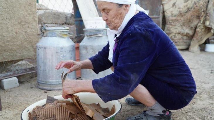 «Суға езіп, қалдықпен араластырады»: Блогер Маңғыстауда малға қалай картон беретінін көрсетті