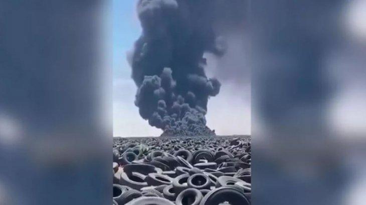 Кувейтте алапат өрт болып жатыр (видео)