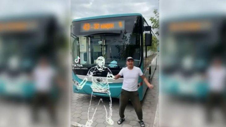 Қарағандылық автобус жүргізушісі Tik-Tok жұлдызына айналды (видео)