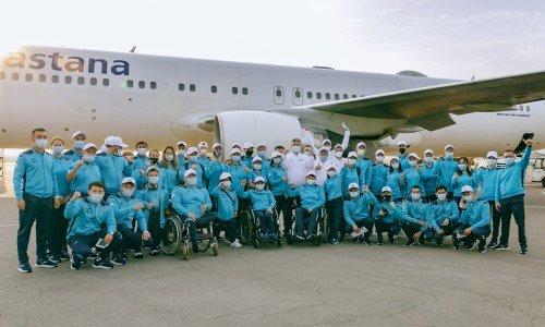 Қазақстандық паралимпиадашылар Токиодағы жарысқа аттанды