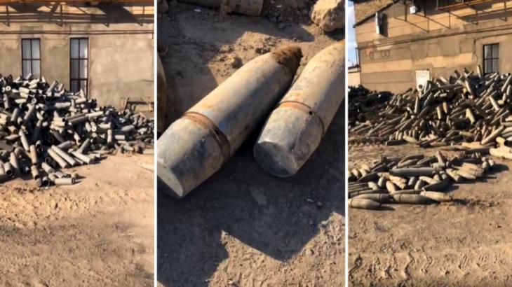 Жарылыс болған Байзақ ауданында кәсіпкердің үйінен тау боп үйілген снаряд табылды