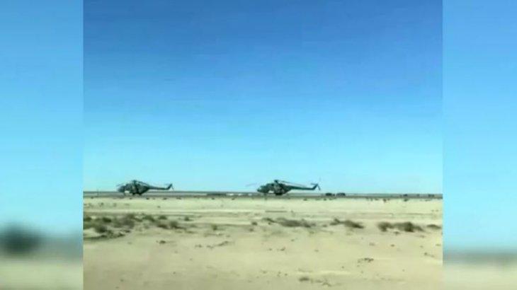 Маңғыстаудағы әскери тікұшақтар халықтың зәресін алды (видео)